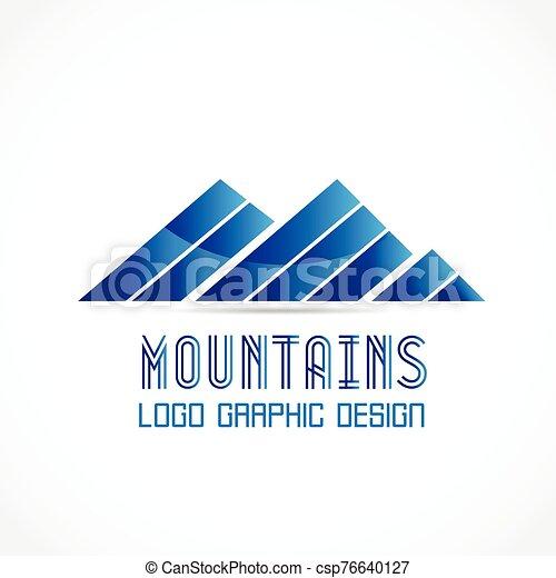 logo mountains blue icon logotype vector identity business id card logo mountains icon logotype vector identity business id can stock photo