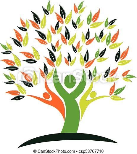 logo, natur, sundhed, træ, folk - csp53767710