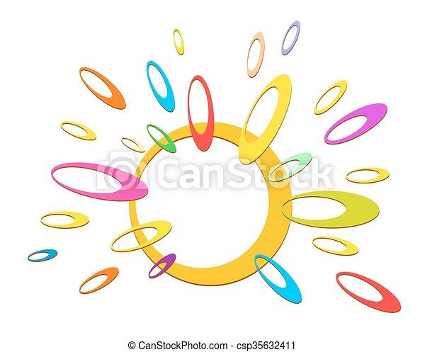Logo of abstract sun