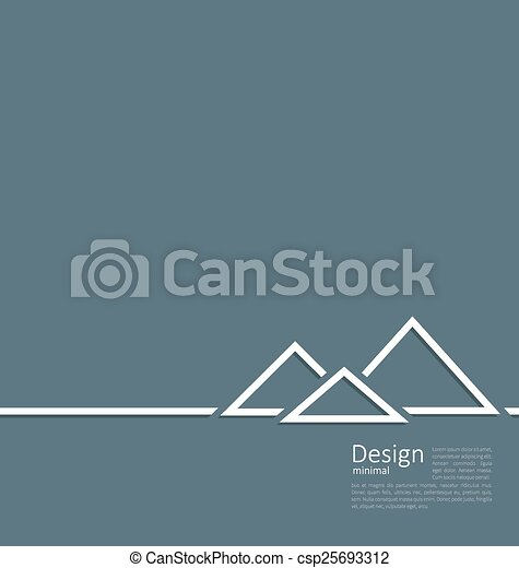 Logo of egyptian pyramid, symbol of tourism, minimal flat style line - csp25693312