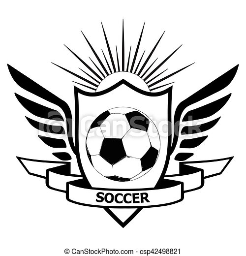 logo of football team logo soccer team heraldic shield with wings