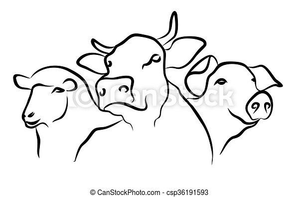 Logo of hoofed animals. - csp36191593