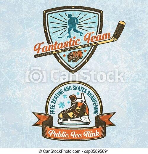 Logo of the hockey team - csp35895691