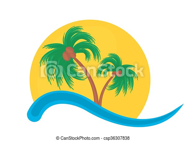 logo of tropical island logo of tropical island with palm rh canstockphoto com tropical island clip art free