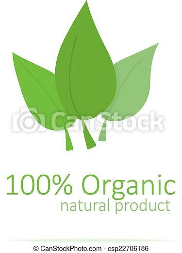logo, organisch - csp22706186