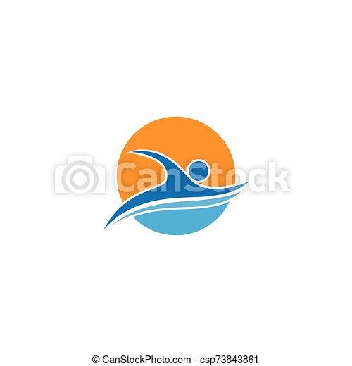 logo, pływacki, sport - csp73843861