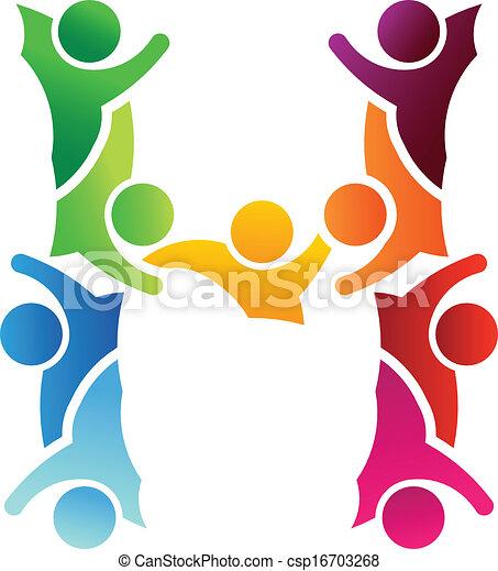 Logo People letter h - csp16703268