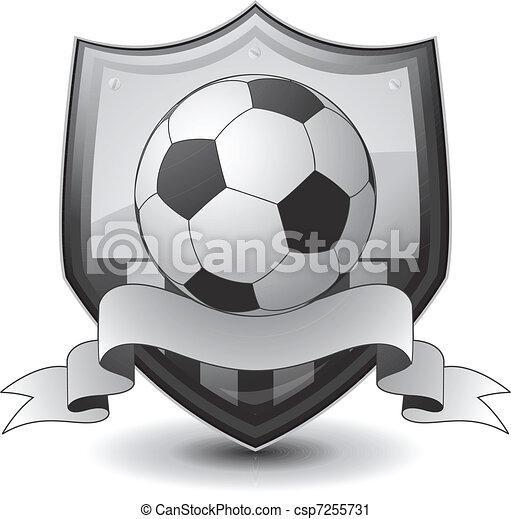 logo, piłka nożna, emblemat - csp7255731