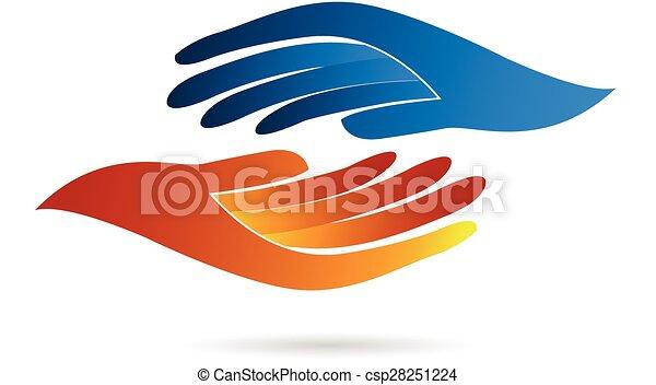 logo, poignée main, business - csp28251224