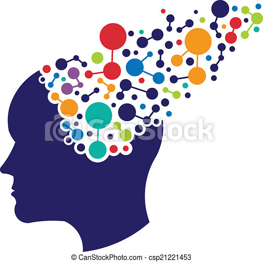 logo, pojęcie, tworzenie sieci, mózg - csp21221453