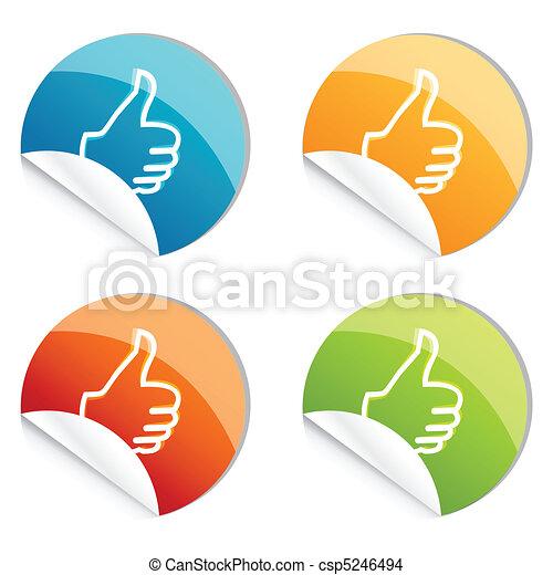 logo, pouces haut - csp5246494
