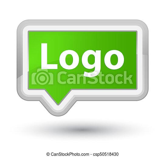 Logo prime soft green banner button - csp50518430