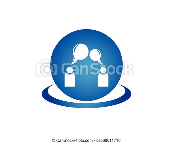 logo, projektować, pogawędka, szablon, ludzie - csp68011716