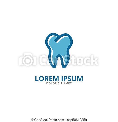logo, projektować, szablon, ząb - csp58612359