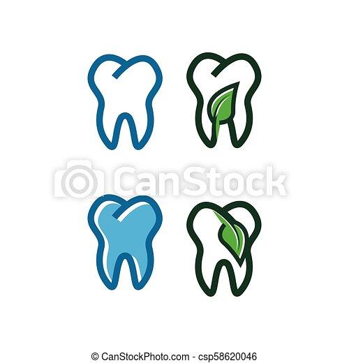 logo, projektować, szablon, ząb - csp58620046