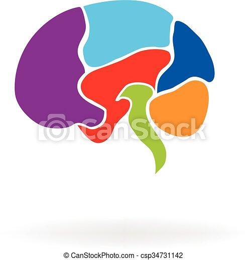 logo, psykologi - csp34731142