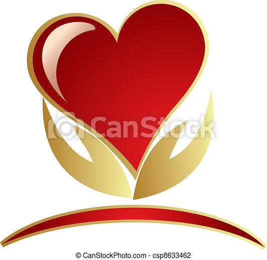 logo, räcker, holdingen, hjärta - csp8633462