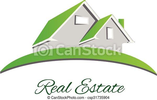 Logo Real estate green house - csp31735904