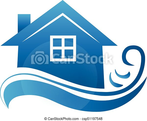 logo real estate house business card blue house with waves eps rh canstockphoto com free small clipart for business cards free small clipart for business cards