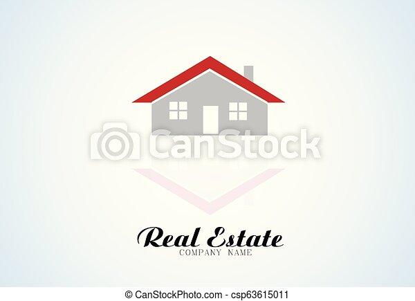 Logo real estate house - csp63615011