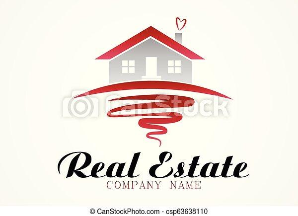 Logo real estate house - csp63638110
