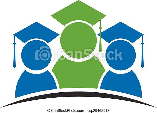 logo, remise de diplomes, classe, étudiant - csp29462913