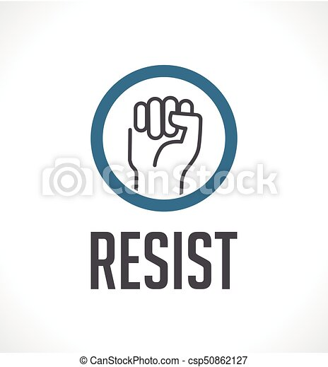 Logo Resist Concept Fist As Symbol Of Resistance