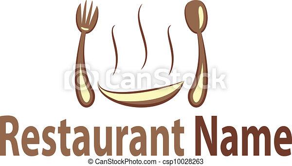 logo, restaurang - csp10028263