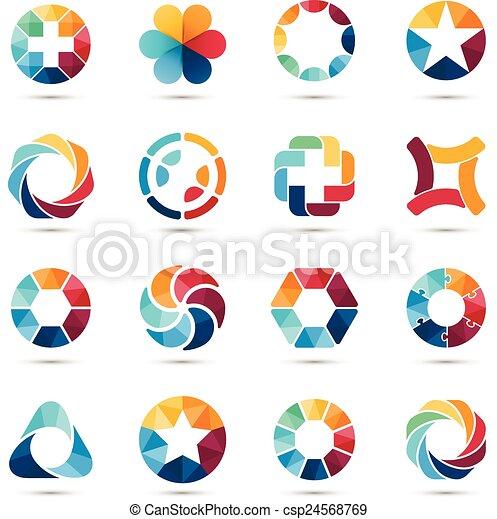 Logo set. Circle signs and symbols. - csp24568769