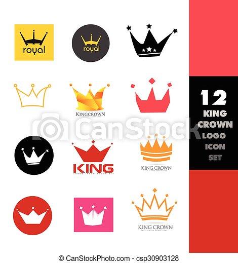 logo, set, kroon, pictogram - csp30903128