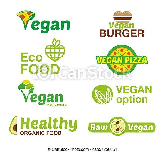 logo, set, vegan - csp57250051