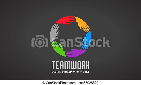 logo, siła robocza, projektować, handlowy, teamwork - csp55928579