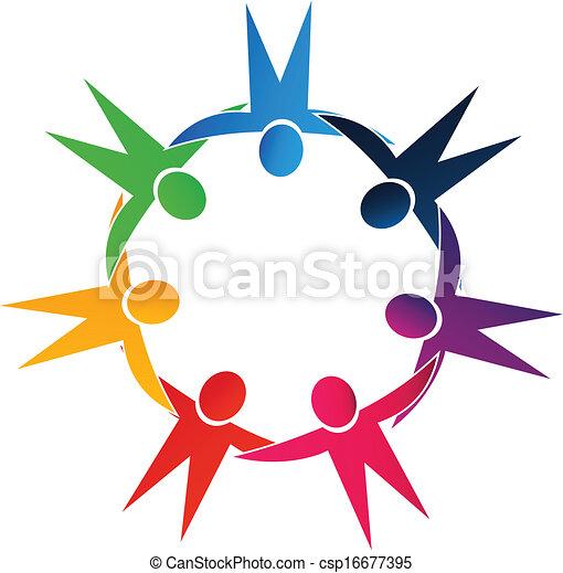 logo, siła robocza, teamwork, dzierżawa, ludzie - csp16677395