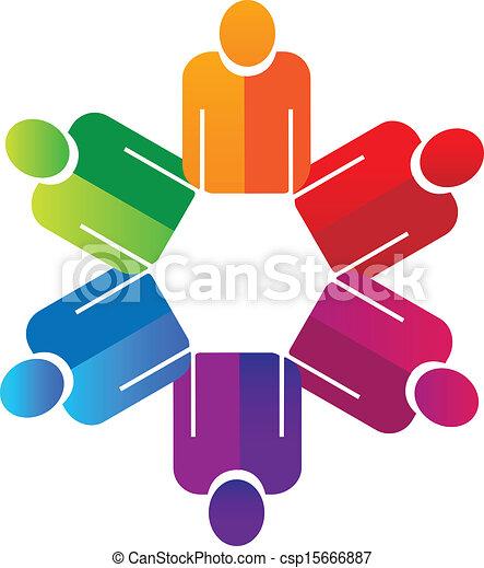 logo, siła robocza, teamwork, dzierżawa, ludzie - csp15666887