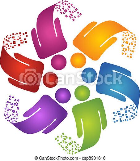 logo, skapande, design, teamwork - csp8901616