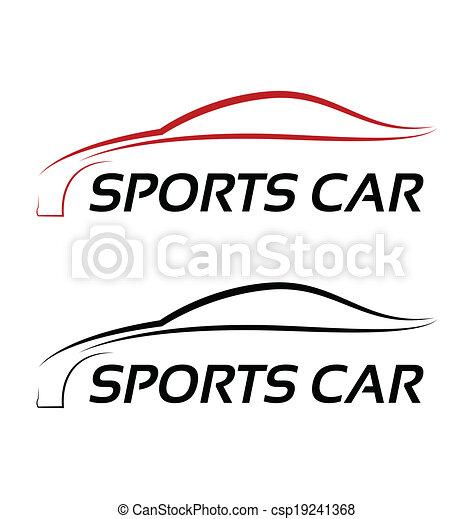 logo, sport, calligraphic, auto - csp19241368