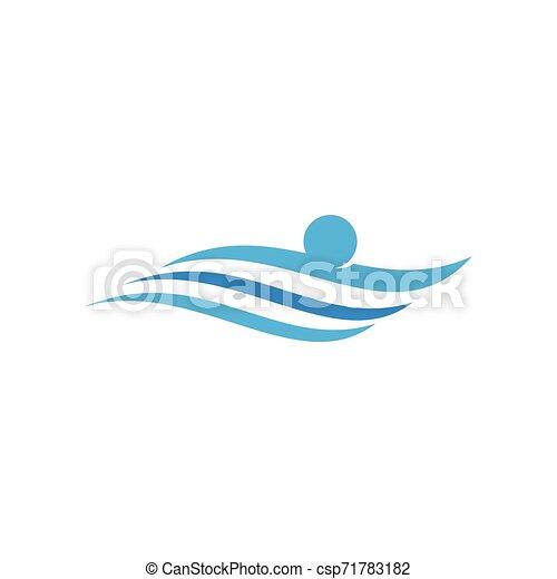 logo, sport, pływacki - csp71783182