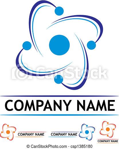 logo, station, puissance, nucléaire - csp1385180