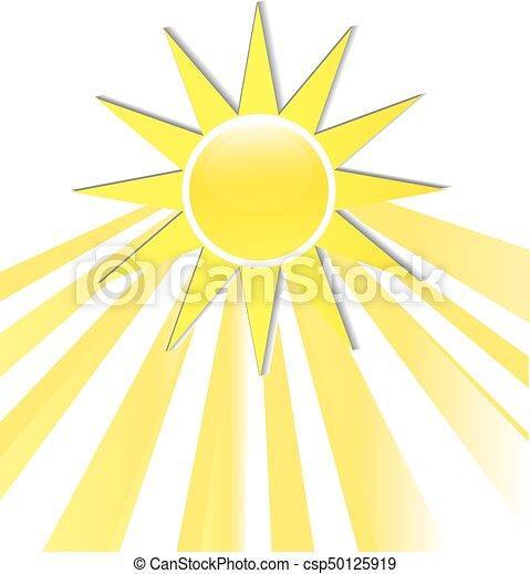 logo, stralen, pictogram, zon - csp50125919
