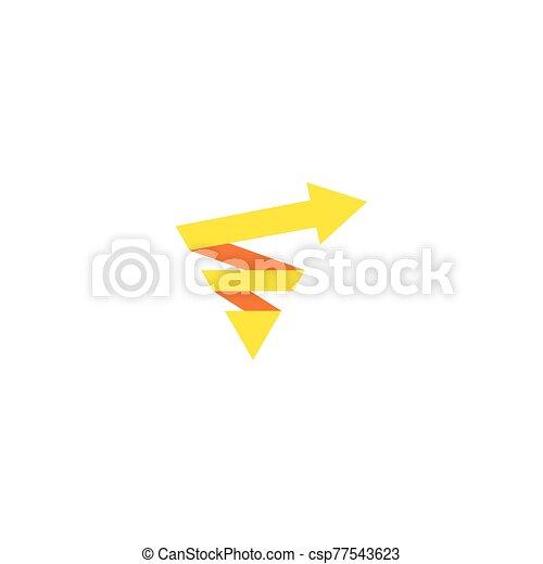 logo, strzała, handlowy - csp77543623