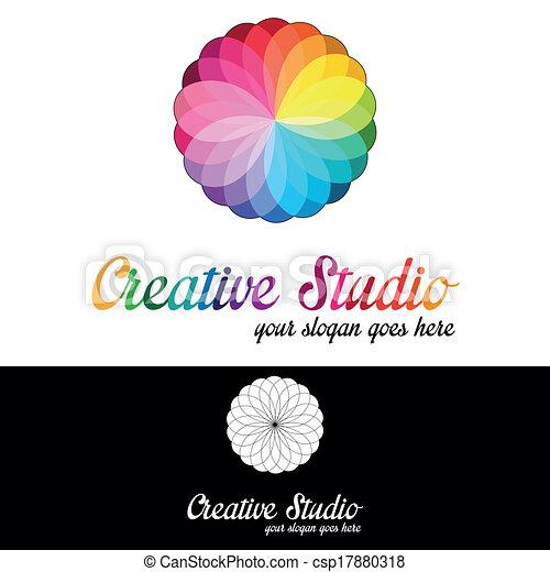 logo, studio, mall, skapande - csp17880318