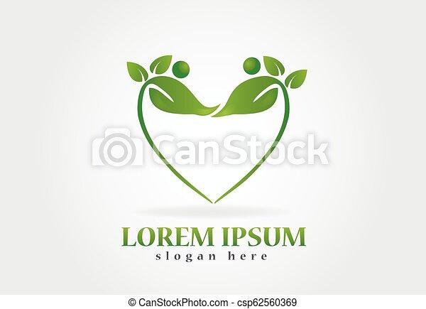logo, sundhed, det leafs, natur - csp62560369