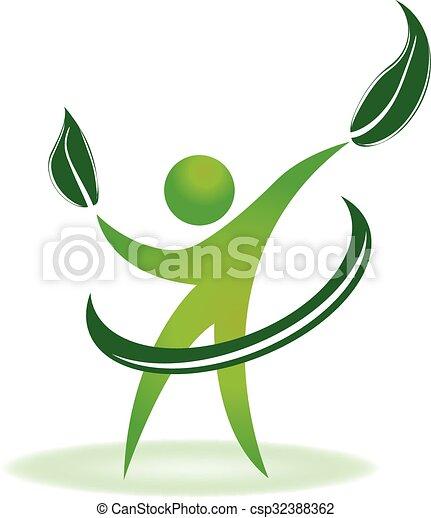 logo, sundhed, natur - csp32388362