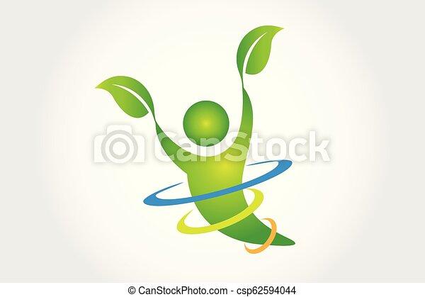 logo, sundhed, natur - csp62594044