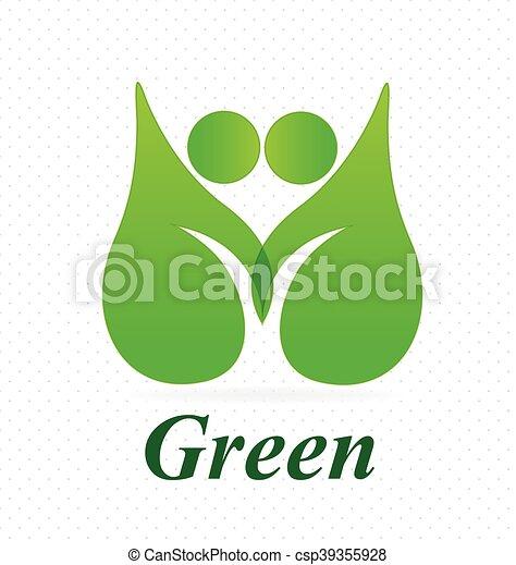 logo, sundhed, natur - csp39355928