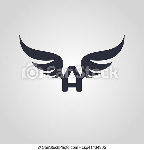 logo, symbol, logotype, temat, lotnik - csp41434305