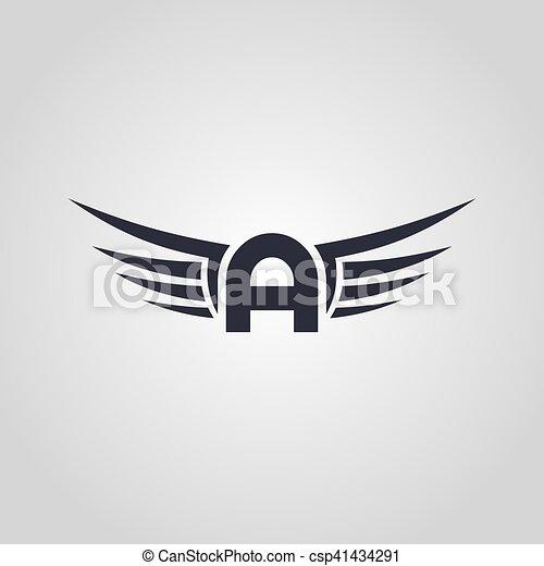 logo, symbol, logotype, temat, lotnik - csp41434291