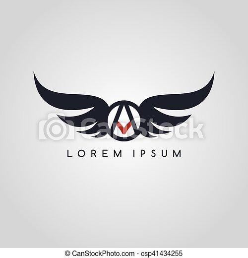 logo, symbol, logotype, temat, lotnik - csp41434255