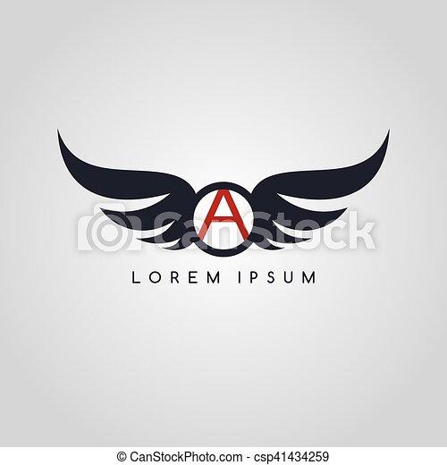 logo, symbol, logotype, temat, lotnik - csp41434259