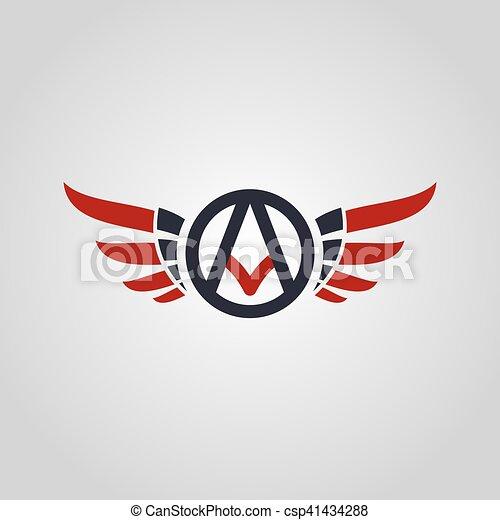 logo, symbol, logotype, temat, lotnik - csp41434288